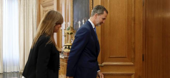 El rey Felipe VI recibe en audiencia a la portavoz de Junts per Catalunya (JxCat) en el Congreso, Laura Borrás.