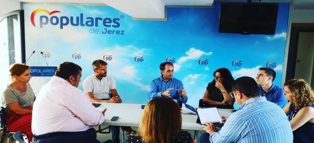 Representantes del PP de Jerez