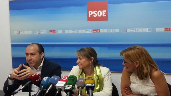 Alejandro Soler, Inmaculada Rodríguez Piñero y Blanca González, imagen de archivo.