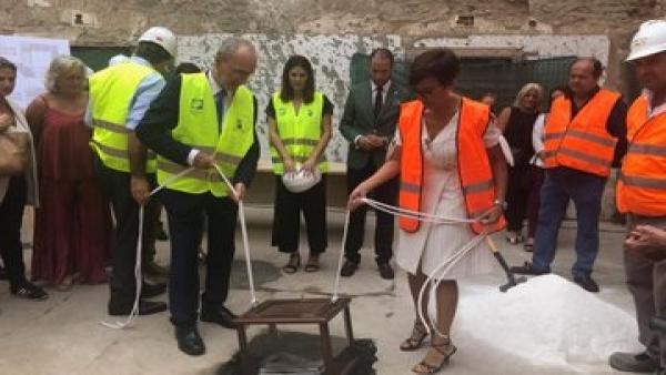 De la Torre y Gámez ponen la primera piedra de la segunda fase de la rehabilitación del convento de San Andrés