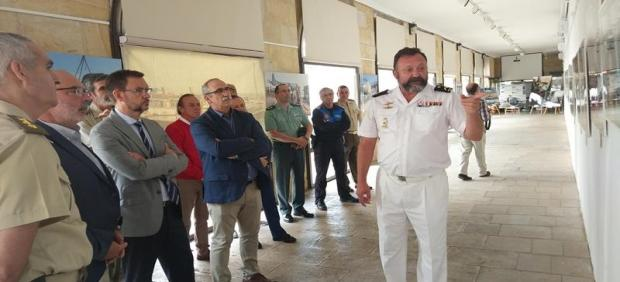 Inauguración de la exposición 'Misión: Atalanta' este martes en el IES Antonio Machado de Soria.