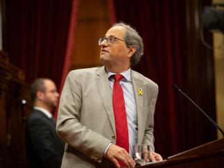 El president de la Generalitat, Quim Torra, en el Parlament.