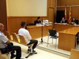 La sala de vistas antes de comenzar el juicio contra un imán de Barcelona por abusos sexuales a un menor.