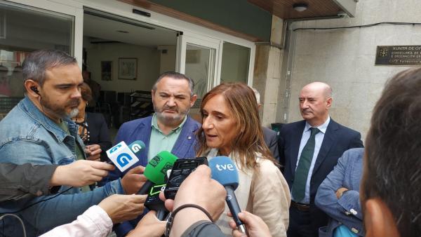 La conselleira de Educación, Carmen Pomar,en Lugo.