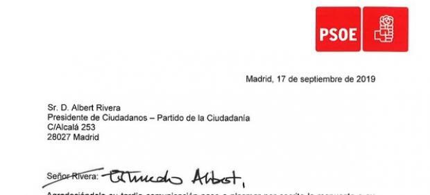 Carta del PSOE
