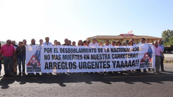 Acto de protesta de la Asociación de Municipios Plataforma N-430
