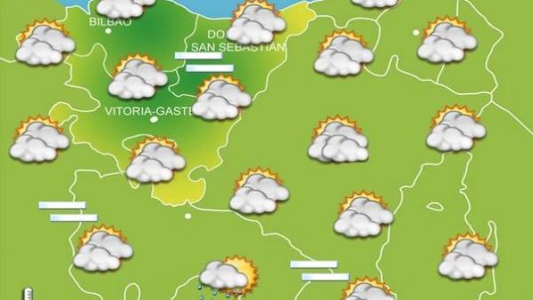 Previsiones meteorológicas para el 18 de septiembre de 2019.