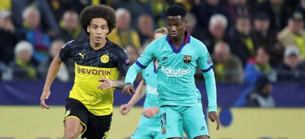 Ansu Fati ante el Borussia Dortmund