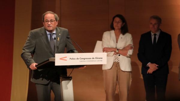 El presidente de la Generalitat, Quim Torra, en la entrega de premios