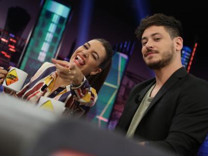 Ana Guerra y Andrés Cepeda, en 'El hormiguero'.