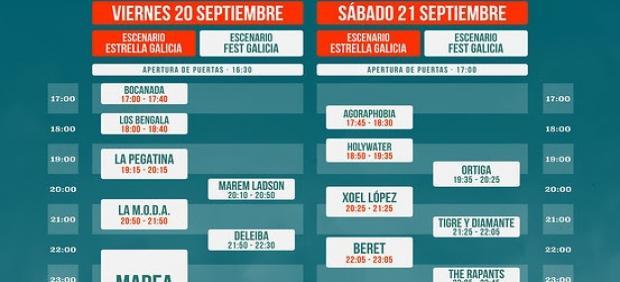 Horarios del festival Caudal Fest, que se celebra los días 20 y 21 de septiembre en Lugo