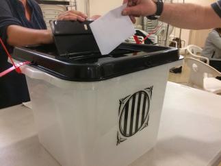 Urna de votació del referèndum de l'1-O.