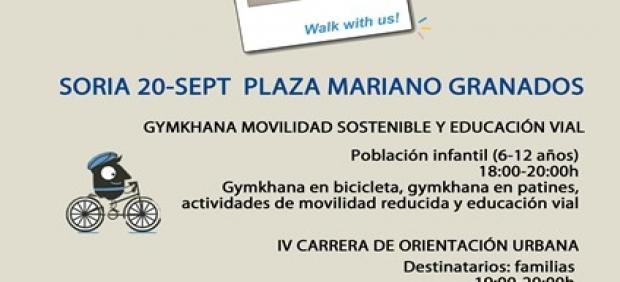 Cartel de la Semana de la Movilidad en Soria.