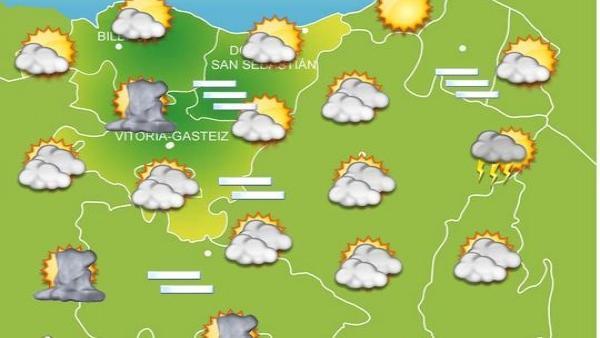 Previsiones meteorológicas para el 19 de septiembre en Euskadi