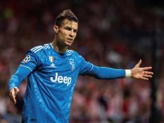 Cristiano Ronaldo, jugando contra el Atlético en el Wanda