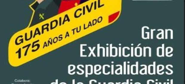 Cartel de la jornada dedicada a la Guardia Civil.