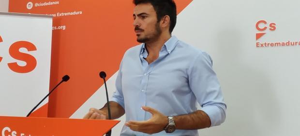 Portavoz adjunto de Ciudadanos en Extremadura, David Salazar