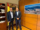 El síndic de Aran, Francés Boya, y el director general de Carreteras, Javier Herrero