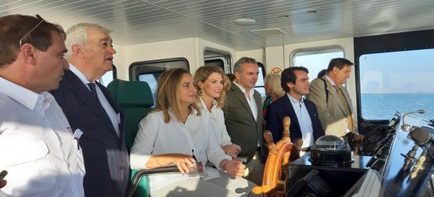 Carazo en el catamarán de la Bahía de Cádiz