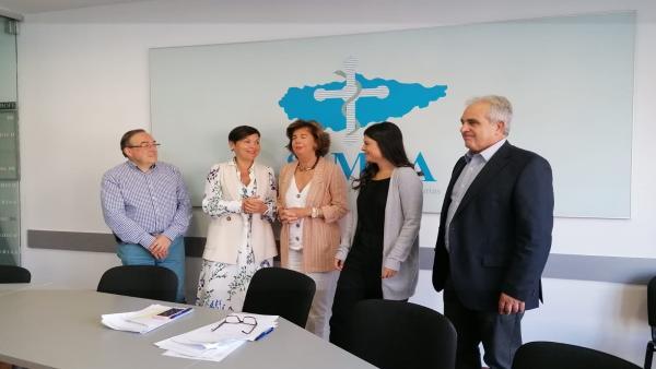 Representantes del Sindicato Médico de Asturias.