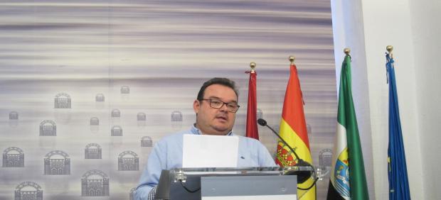 El delegado de Seguridad Ciudadana, Marco Antonio Guijarro en rueda de prensa.