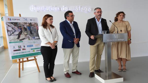 El vicepresidente de la Diputación y diputado de Educación, Juventud y Deportes, Juan Carlos Maldonado, en la entrega de los premios del Concurso de Emprendimiento del proyecto europeo Communities of Practice for Healthy Lifestyle