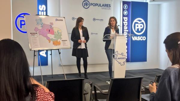 Rueda de prensa de Ana Morales y Ana Salazar, del PP