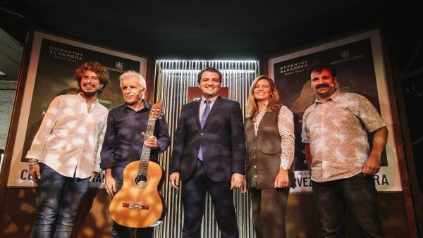 El alcalde de Córdoba, José María Bellido (centro), presenta 'Medina Sonora' en Madrid