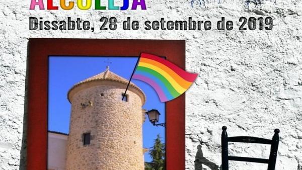 Cartel de la Trobada de Pobles per la Diversitat en Alcoleja, Alicante