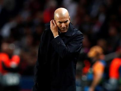 Zidane, cabizbajo