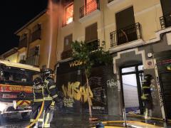 Fuego en una vivienda en Lavapiés