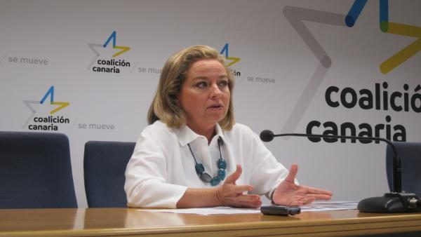 La diputada de CC, Ana Oramas, en rueda de prensa