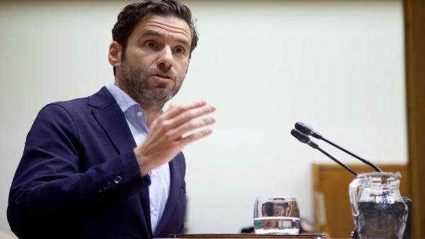 Borja Sémper, portavoz del PP en el Parlamento vasco, en una intervención en la Cámara