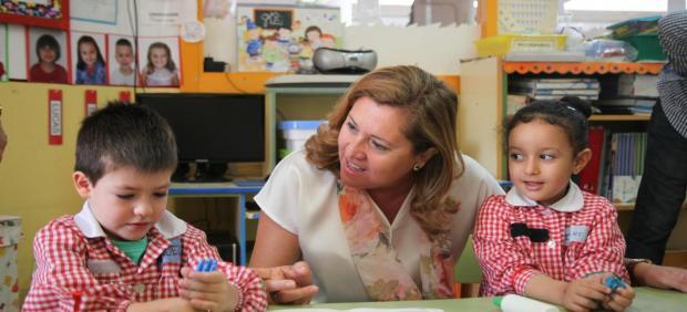 La consejera de Educación, Cultura y Deportes, Rosa Ana Rodríguez, visita el CEIP 'San Antón' de Albacete