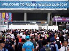 Aficionados al rugby, durante el Mundial de Japón 2019