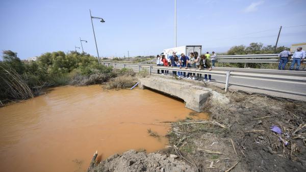 Zonas afectadas por el temporal de Almería