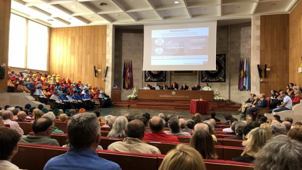 Apertura solemne del curso académico 2019-2020 en el Paraninfo de la Universidad de Valladolid.