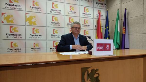 El portavoz del PSOE en la Diputación de Córdoba, Esteban Morales