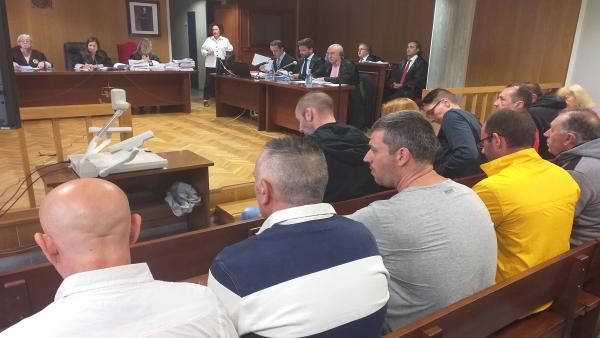 Juicio a 12 acusados de introducir 60 kilos de heroína en Galicia.