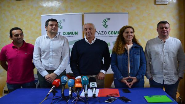 Pachi Vázquez en una rueda de prensa de Espazo Común