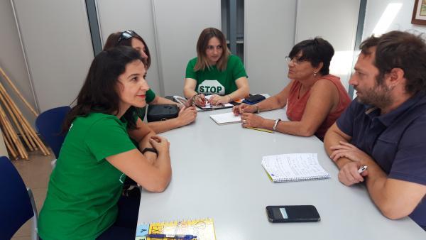 María Jesús Garrido mantiene una reunión con la PAH