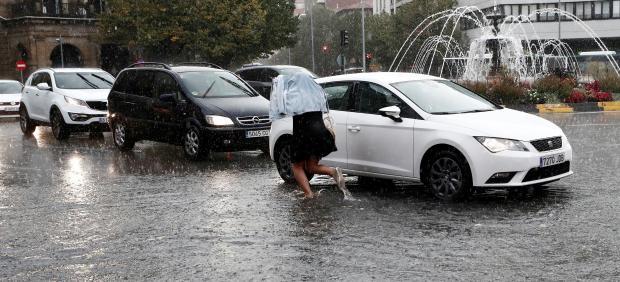 Lluvia en Pamplona