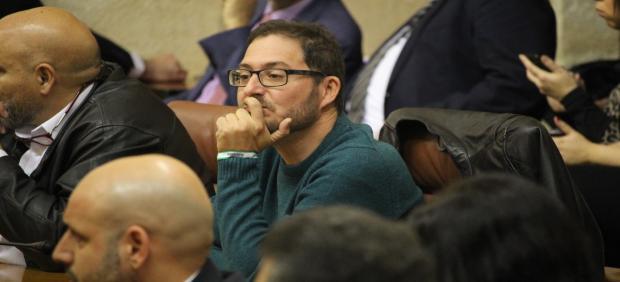 El parlamentario de Adelante Andalucía por Almería Diego Crespo, en una foto de archivo