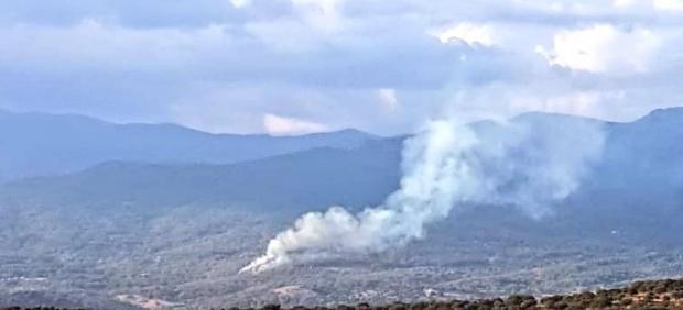 Incendio en Poyales del Hoyo (Ávila)