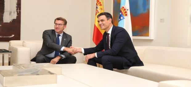 Feijóo y Pedro Sánchez en La Moncloa