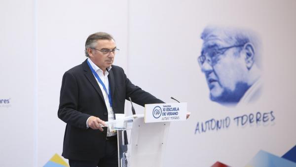 El presidente del Partido Popular de Aragón, Luis María Beamonte.