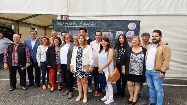 Miembros de Ciudadanos en su visita a AgroSiero.
