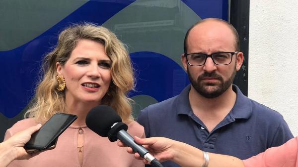 Ana Mestre en declaración a los periodistas.