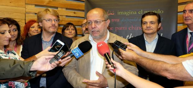 El vicepresidente de la Junta, Francisco Igea, durante el Hay Festival de Segovia.