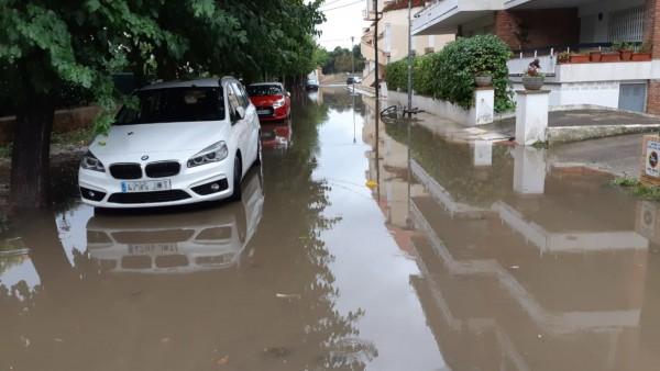 Inundación en Platja d'Aro